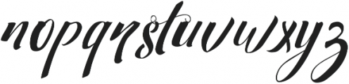 Strawberry Non Connect otf (400) Font LOWERCASE