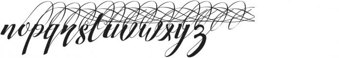Strawberry Right Swashes otf (400) Font LOWERCASE