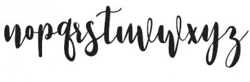 Strawberry Script Reguler otf (400) Font LOWERCASE