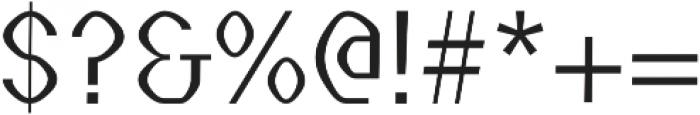 Streamlined regular otf (400) Font OTHER CHARS