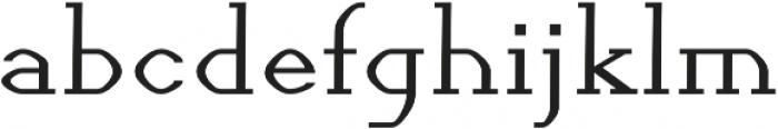 Streamlined regular otf (400) Font LOWERCASE