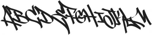 Street Tag vol1 otf (400) Font UPPERCASE