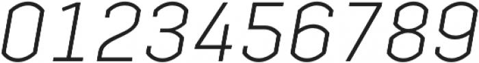 Streetline Light Italic otf (300) Font OTHER CHARS