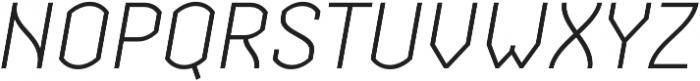 Streetline Light Italic otf (300) Font UPPERCASE