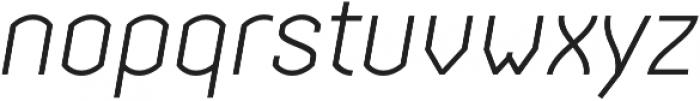 Streetline Light Italic otf (300) Font LOWERCASE