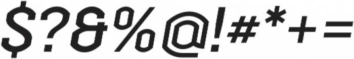 Streetline Medium Italic otf (500) Font OTHER CHARS