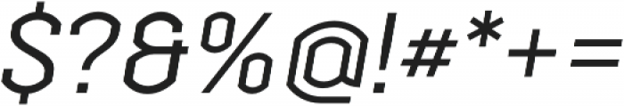 Streetline otf (400) Font OTHER CHARS
