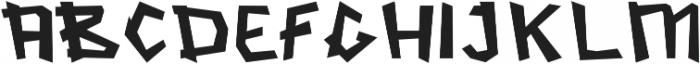 Streetsoul SemiBold otf (600) Font UPPERCASE