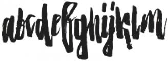 Strenght Regular otf (400) Font LOWERCASE