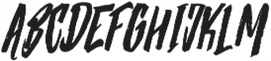 Strenght Slant otf (400) Font UPPERCASE