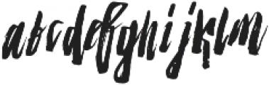 Strenght Slant otf (400) Font LOWERCASE