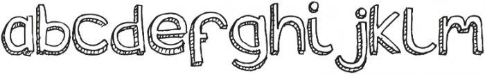 Stria otf (400) Font LOWERCASE