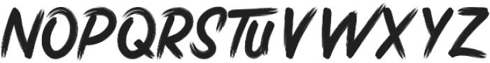 Stricken Brush otf (400) Font LOWERCASE