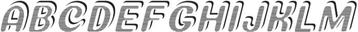 StricktlyStripedITALIC StricktlyStriped otf (400) Font UPPERCASE