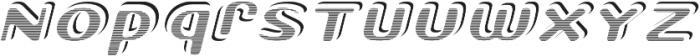 StricktlyStripedITALIC StricktlyStriped otf (400) Font LOWERCASE