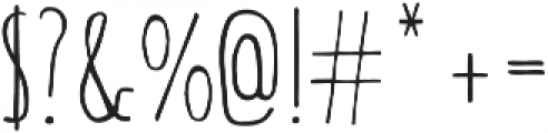 String Bean Bold otf (700) Font OTHER CHARS