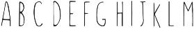 String Bean otf (400) Font LOWERCASE