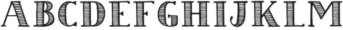 Striped Regular otf (400) Font LOWERCASE