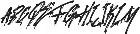 Stronger Megatron Italic otf (400) Font LOWERCASE