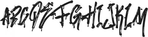 Stronger Megatron otf (400) Font UPPERCASE
