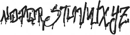 Stronger Megatron ttf (400) Font UPPERCASE