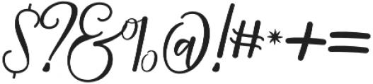 Strongman Script Regular otf (400) Font OTHER CHARS
