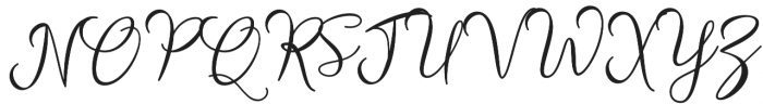 Strongman Script Regular otf (400) Font UPPERCASE