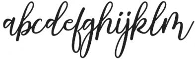 Strongman Script Regular otf (400) Font LOWERCASE