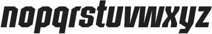 Structia Italic otf (400) Font LOWERCASE