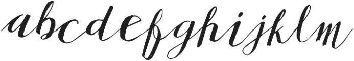 Stuarte otf (400) Font LOWERCASE