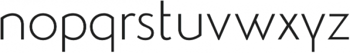 Studio Gothic Alternate ExtraLight otf (200) Font LOWERCASE