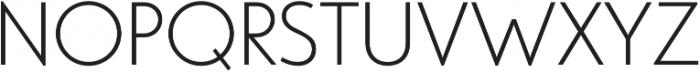 Studio Gothic ExtraLight otf (200) Font UPPERCASE