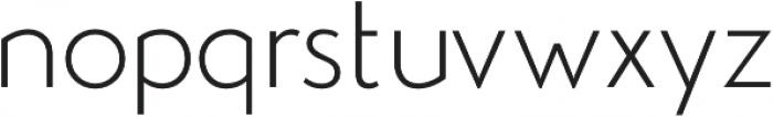 Studio Gothic ExtraLight otf (200) Font LOWERCASE
