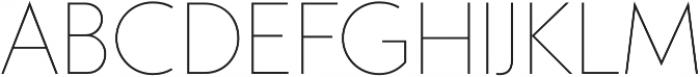 Studio Gothic Thin otf (100) Font UPPERCASE