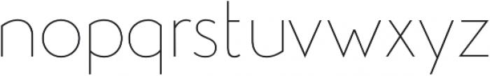 Studio Gothic Thin otf (100) Font LOWERCASE