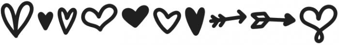 Stupid Cupid Hearts otf (400) Font OTHER CHARS