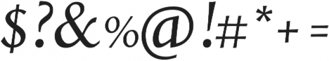 Styla Pro Italic otf (400) Font OTHER CHARS