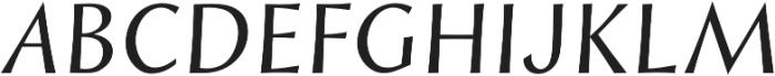Styla Pro Italic otf (400) Font UPPERCASE
