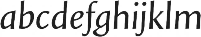 Styla Pro Italic otf (400) Font LOWERCASE