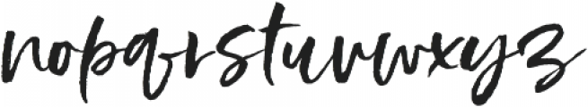 Styled up Upright otf (400) Font LOWERCASE