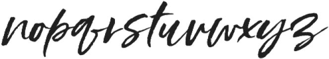 Styled up slanted otf (400) Font LOWERCASE