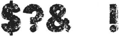 stonetypo grunge otf (400) Font OTHER CHARS