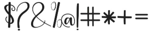 streetlight script otf (300) Font OTHER CHARS