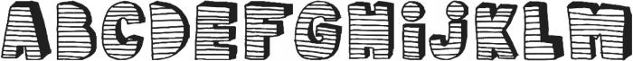 stripe3D ttf (400) Font LOWERCASE