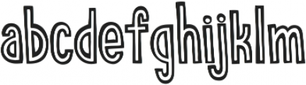 stripecomic otf (700) Font LOWERCASE