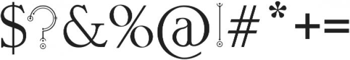 stuva otf (400) Font OTHER CHARS