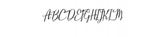 Stellaria Oblique.ttf Font UPPERCASE