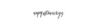 Stellaria Oblique.ttf Font LOWERCASE