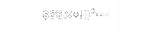 Storehouse Outline.otf Font OTHER CHARS
