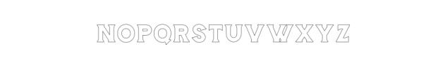 Storehouse Outline.otf Font UPPERCASE